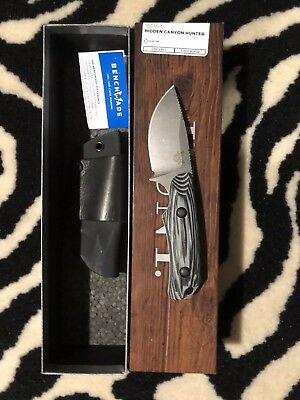 NEW Benchmade Hidden Canyon Hunter 15016-1 Drop-Point S30V Black and Gray Handle