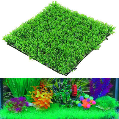 Green Plastic Water Grass Plant Lawn Fish Tank Landscape Aquarium Home Decor Top