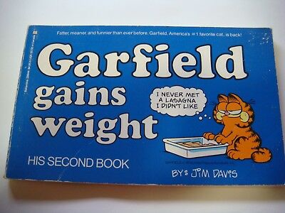 Garfield gains weight His Second Book First Edition Pre-Owned lot #103