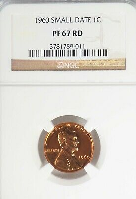 1960 Small Date Lincoln Penny NGC PF 67 RD