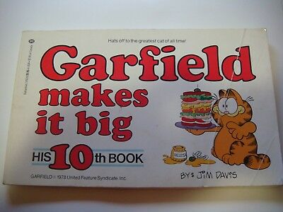 Vintage Garfield makes it big His 10th Book 1985 Pre-Owned lot #103