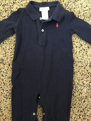 Ralph Lauren polo style 9m 9 month romper one piece exceptional condition velour