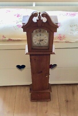 Small unusual  Ornamental Grandfather Clock In Working Order.