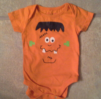 Little Playmates Boy's Size 3-6 Months One Piece Orange Halloween Outfit