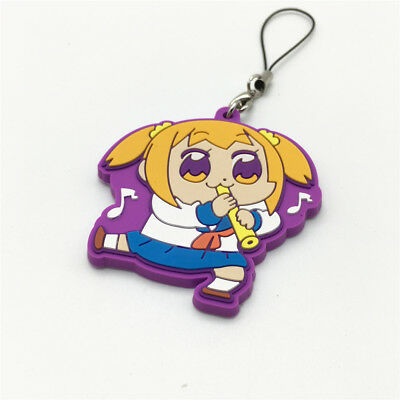 Anime Pop Team Epic keychain Anime Keyring Figure Rubber Popuko Pipimi Pendent
