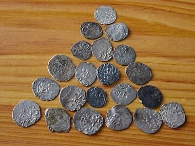OTTOMAN EMPIRE - Lot of 21 Authentic Ottoman Islamic Silver Coins Akce Unknown.