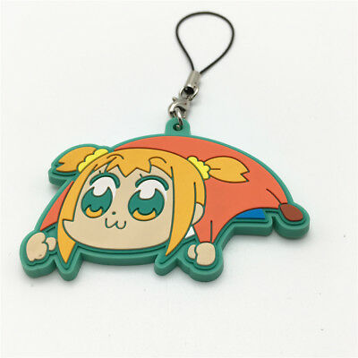 Pop Team Epic keychain Anime Keyring Figure Rubber Popuko Pipimi ANIME Pendent