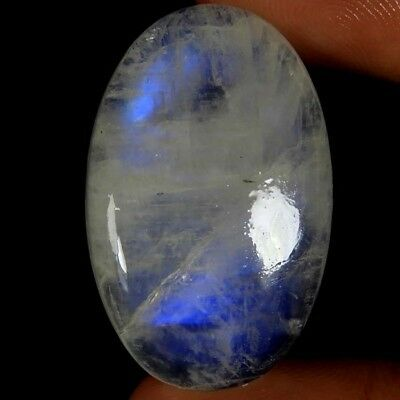 44.35cts Natural Super Quality Rainbow Moonstone Oval Cabochon Top Gemstone