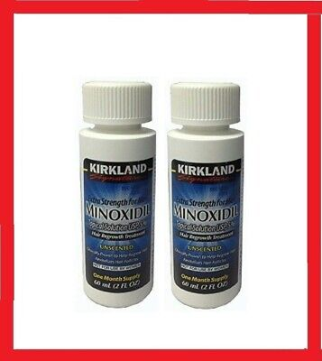 Kirkland Minoxidil 5% Men's Hair Regrowth Solution 2 Months Supply +Free Dropper