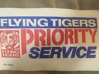 Flying Tigers Priority Service Label