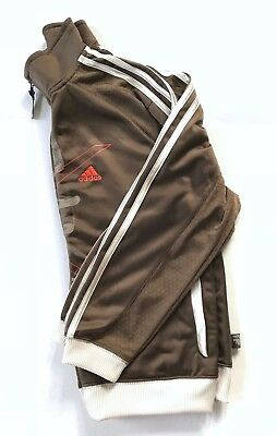 12c0674da1b2 Adidas Kids Youth Boy Unisex Track Jacket Full Zip Printed Brown Beige Size  M