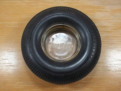 Early Vintage Firestone Deluxe Champion Gum Dipped Tire Advertising Coin Ashtray