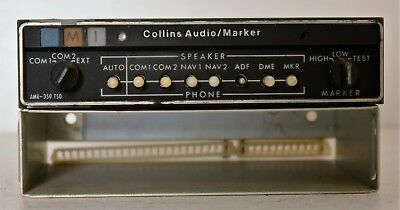 Collins Audio Panel Marker AMR 350 MODS 1,2,5,6 With Tray Untested 622-2087-011