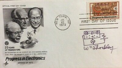 William Shockley Signed Cover Invented Transistor