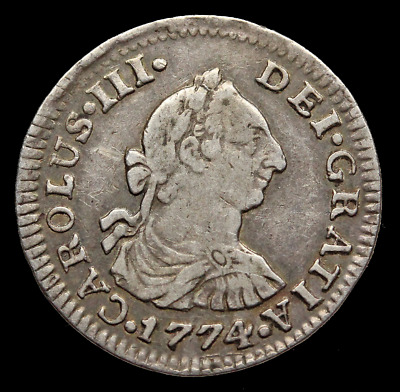 Colonial Mexico, 1774 Silver 1/2 Real, Charles III, KM# 69.2