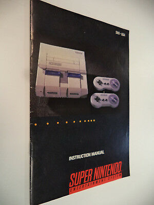 Super Nintendo Console Manual SNES System Instruction Booklet Only