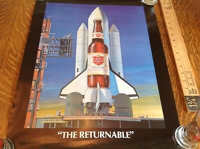 "1984 Lone Star Beer ""The Returnable "" Poster Approx 17"" X 22"""