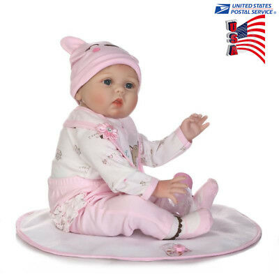 NPK Reborn Doll Simulation Baby 55cm US Sell Soft Silicone Body Kid Toy Props