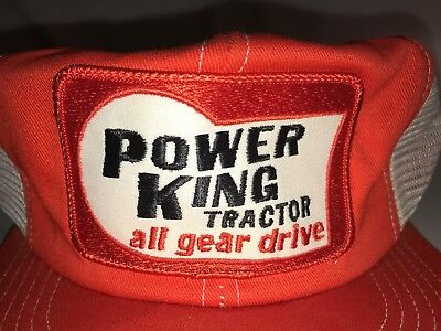 Super Awesome Vintage Retro Power King Tractor Trucker Hat Cap Snapback  K Brand