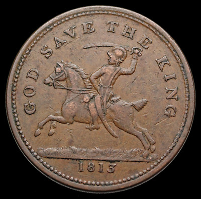 GREAT BRITAIN. One Penny Token, Halesowen - 1813 - God Save the King