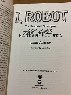 "Harlan Ellison Signed Book ""I, Robot"" Scence Fiction Writer"