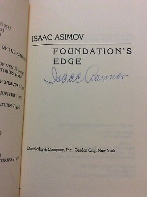 "Isaac Asimov Signed Book ""Foundation's Edge"" Writer"