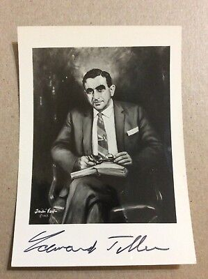 Edward Teller Signed Photo Father Of The H-Bomb