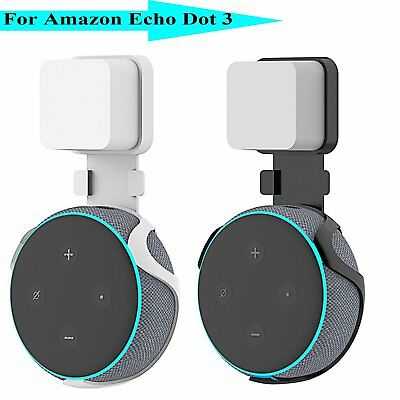 Outlet Wall Mount Hanger Holder Stand Bracket For Amazon Echo Dot 3rd Generation
