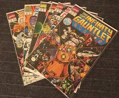 THE INFINITY GAUNTLET 1-6 Complete Marvel Thanos Avengers Infinity War 2 3 4 5