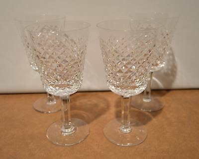 Set Of 4 Waterford Crystal Alana Water Goblets