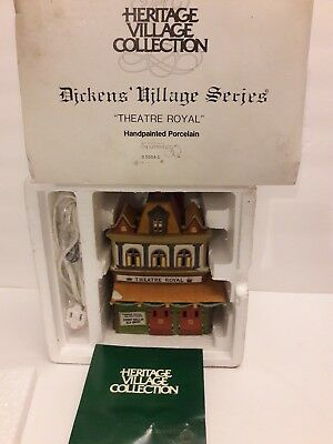 Dept 56 HERITAGE VILLAGE COLLECTION DICKENS SERIES THEATRE ROYAL #5584-0