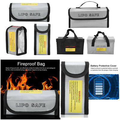 Fireproof  LiPo Battery Safe Guard Bag Case for Safety Charging Storage Travel