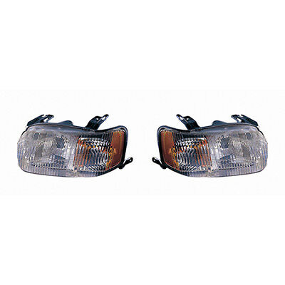 Fits 2001-2004 Ford Escape Pair Head Lights Driver and RH - Bulbs Incl. CAPA