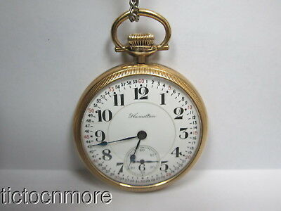 ANTIQUE HAMILTON 992 MONTGOMERY DIAL REED REGUL RAILROAD 21j POCKET WATCH 1918