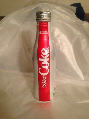Coca Cola Diet Coke Aluminum Bottle Full 8.5 Fl Oz No Dents Expired 9/17/2018