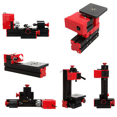 6in1 Mini Metal Lathe Wood Tool Jigsaw Milling Lathe Drilling Sanding Machine