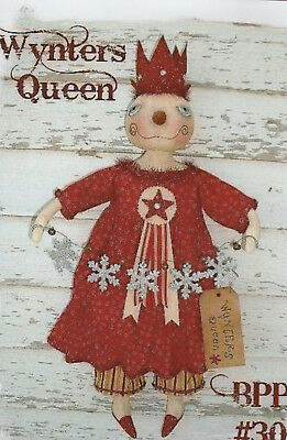 Primitive Winter Queen Snowman Doll Pattern by Back Porch Pickins- New