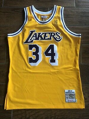 7649ae6580af Shaquille O neal Jersey 96-97 L Mitchell   Ness Los Angeles Lakers Shaq