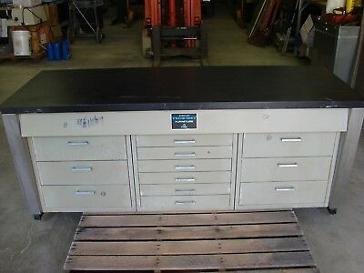 "Buehler Tech-Met Furniture Floor Cabinet 73"" Long  -  Top 12 drawers - Specimen?"