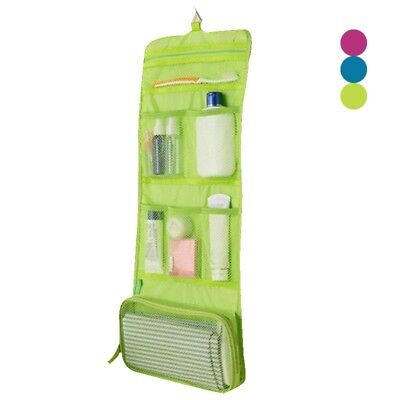 Foldable Cosmetic Bag Travel Wash Toiletry Organizer Hanging Bag Makeup Pouch