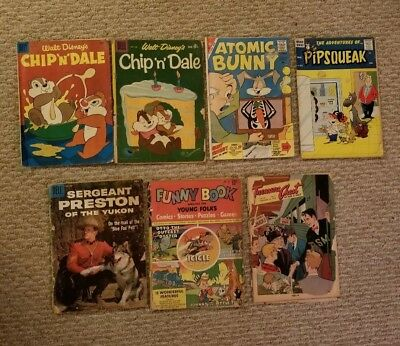 Golden Age 7 Issue Comic Book Lot Lower Grade Great Comics!