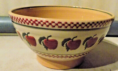 Rare Vintage Nicholas Mosse Pottery Apple Fruit Bowl Mixing Made In Holland *nr*