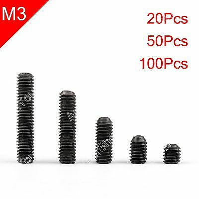 20Pcs M3*20mm 12.9 grade alloy steel Hex Socket Set Screws with Cup Point Grub