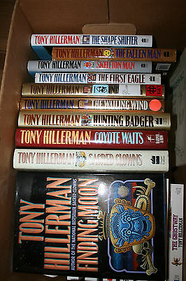 Tony Hillerman Books 10 hardcovers and 11 paperbacks Jim Chee Mysteries