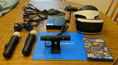 Sony PlayStation 4 VR Headset with Camera and 2 Move Motion Controllers