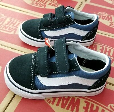 e0810c9e5f VANS OLD SKOOL V Navy Blue VN000D3YNVY Suede Baby Toddler Shoes ...