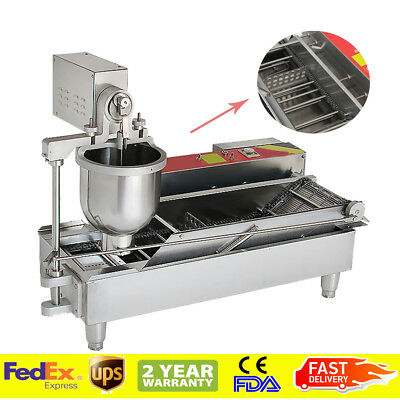 1000pc/H Commercial Automatic Electric Donut Making Machine Donut Fryer 3 Outlet