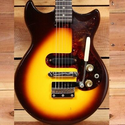 Epiphone 1960s Melody Maker Olympic Vintage 60s Double Cutaway + Case 00543