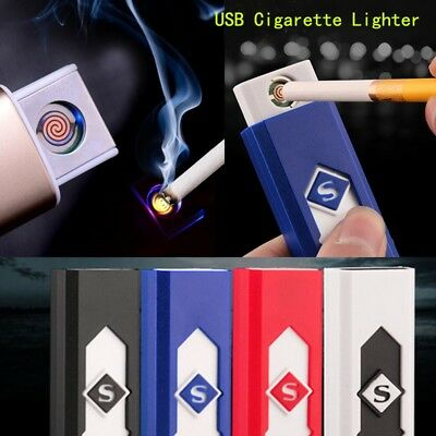 4 Colors Electronic Lighter Rechargeable USB Lighters Flameless Cigar Lighter
