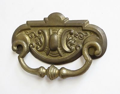 "Vintage Brass Bail Drop Drawer Pull , 3 3/4"" On Center"